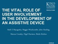 The vital role of user involvement in the development of an assistive ...