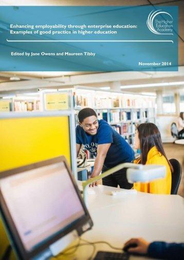 Enhancing employability through enterprise education good practice guide