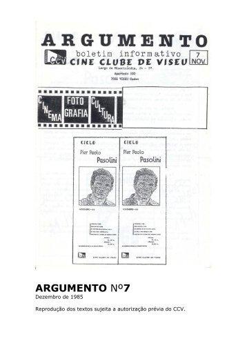 Argumento nº7 - Cine Clube de Viseu