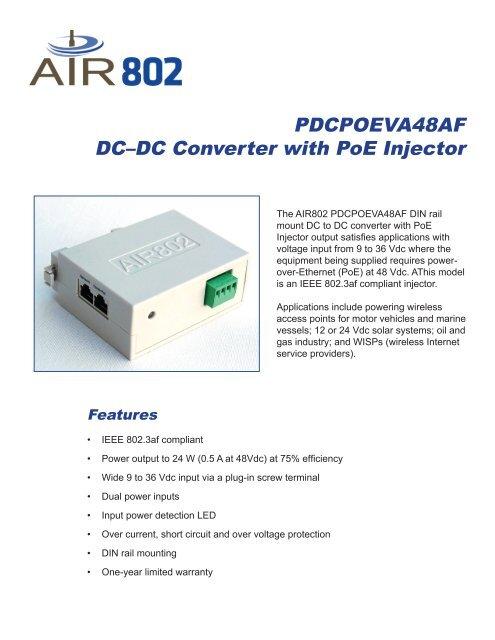 Download Product Data Sheet - Air802 com