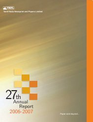 Download Annual Reports 2006 - TNPL