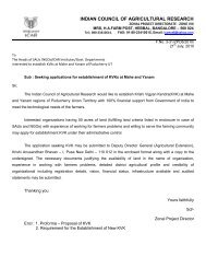 indian council of agricultural research - Zonal Project Directorate ...
