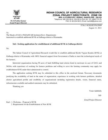 indian council of agricultural research zonal project directorate, zone ...