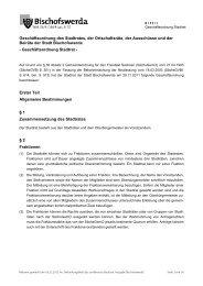 0/11/I - Geschäftsordnung des Stadtrates - Bischofswerda