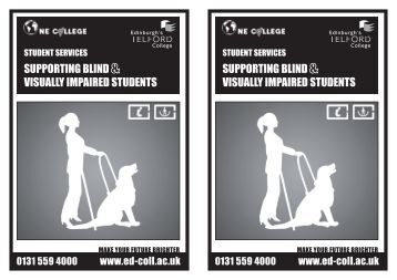 suPPOrting BLind visuALLY iMPAired students suPPOrting BLind ...