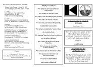 Programm für das I. Quartal 2012 Die Veranstaltungen finden, wenn ...
