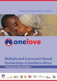 Multiple and Concurrent Sexual Partnerships in Southern ... - Soul City