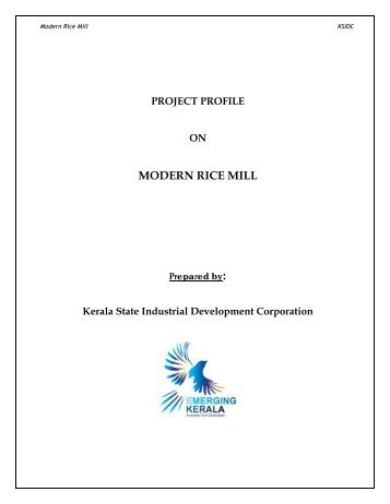 project profile on modern rice mill - Emerging Kerala