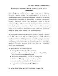 Radial Aluminium Electrolytic Capacitors by ... - Emerging Kerala