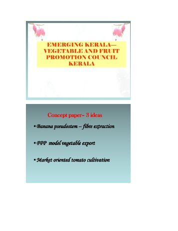 Vegetable and Fruit Promotion Council Kerala - Emerging Kerala