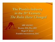 The Plastics Industry in the 21st Century: The Rules Have Changed