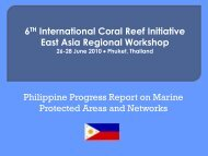 Presentation (PDF File) - East Asia Regional Activities ...