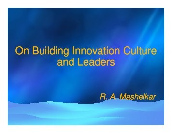 On Building Innovation Culture and Leaders