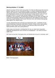 Weihnachtsfeier 17.12.2009 - BSC Rehberge