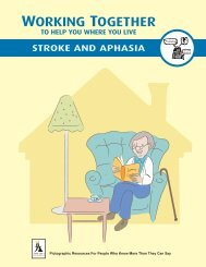 WORKING TOGETHER - Aphasia Institute