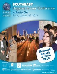 SOUTHEAST Regional Annual Conference - Health Care ...