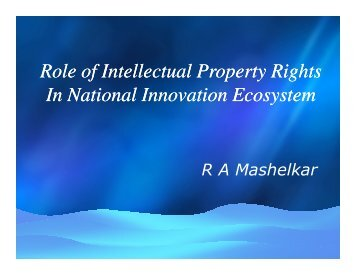 Role of Intellectual Property Rights In National Innovation Ecosystem