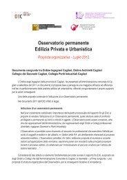 proposta di attivazione di un Osservatorio permanente - Ordine degli ...