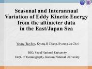 Seasonal and interannual variation of eddy kinetic energy ... - PAMS