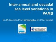 Inter-annual and decadal sea level variations in PAMS