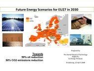 The Future European Energy System - Ea Energianalyse
