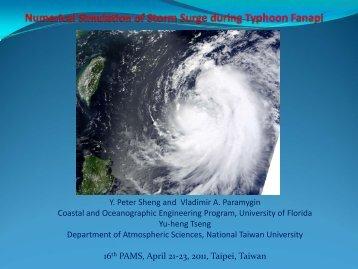 Numerical simulation of storm surge and coastal inundation ... - PAMS