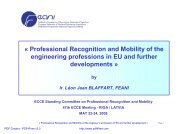 « Professional Recognition and Mobility of the engineering ...