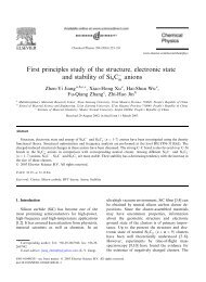 First principles study of the structure, electronic state and stability of ...