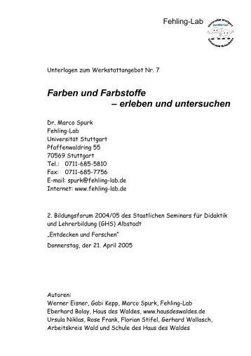 Farbstoffe eine Übersicht Dr. Horst Berneth