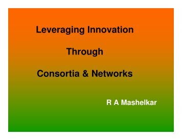 Leveraging Innovation Through Consortia & Networks - National ...