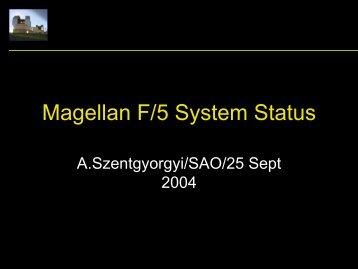 Magellan F/5 System Status - MagellanTech