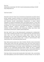 Ritva Varis puheessaan - Kymenlaakson ammattikorkeakoulu