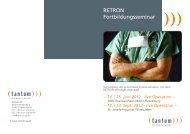 RETRON Fortbildungsseminar - tantum AG