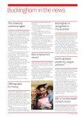 Autumn 2011 - University of Buckingham - Page 6