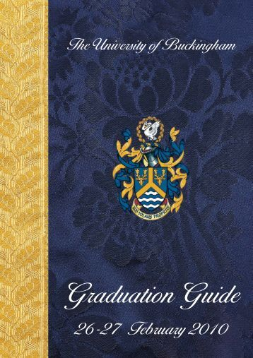 Graduation Guide 2010:Layout 1 - University of Buckingham