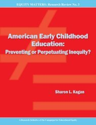 American Early Childhood Education: - Teachers College Columbia ...