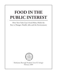 FOOD IN THE PUBLIC INTEREST - Manhattan Borough President