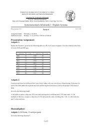 Digitale Systeme Serie 6 Presentation Assignment - Institut für ...