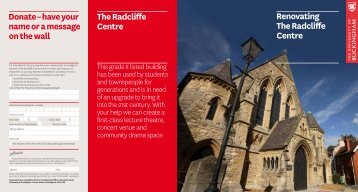 Renovating the Radcliffe Centre - University of Buckingham