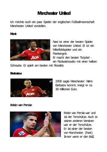 Die besten Spieler von Manchester United