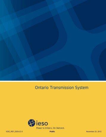 Ontario Transmission System - November 2012 - IESO