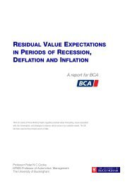 residual value expectations in periods of recession, deflation and ...