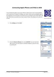 iPhone and iPad guide - University of Buckingham