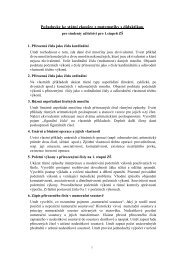 Požadavky ke státní zkoušce z matematiky s didaktikou