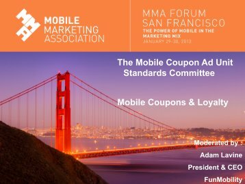The Mobile Coupon Ad Unit Standards Committee Mobile Coupons ...