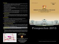 Prospectus - Thejus Engineering College