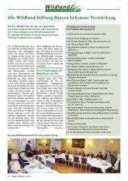 Die Wildland-Stiftung Bayern bekommt Verstärkung
