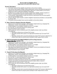 Quick Guide for Eligibility Rules Approved for the 2013-2014 School ...