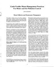 Cattle Feedlot Waste Management Practices For Water and Air ...