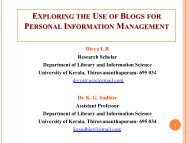 Divya L. R. and K. G. Sudhier. Exploring the Use of Blogs for ...